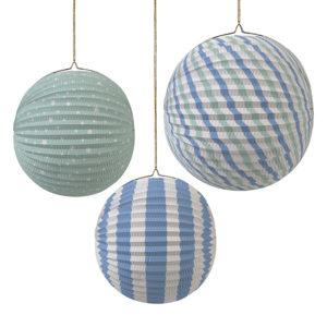 paper globes blue