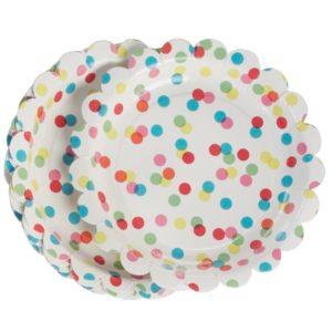 assiette confetti