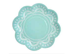 blue tiffanesque plate