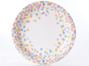 confetti party plates