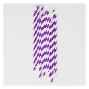 pailles rayé violet