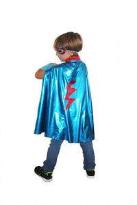 superhero bleu déguisement costume