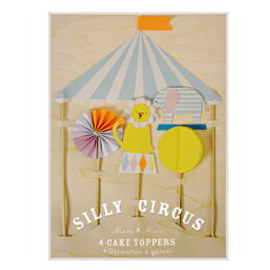 silly circus cake toppers meri mei