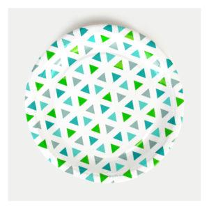 assiettes-triangle-vert