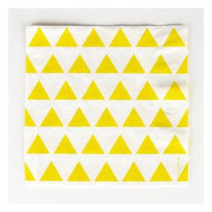 serviette-triangle-jaune my little day
