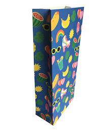 pochettes cadeaux roller arc-en-ciel hot-dog