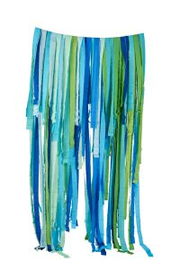 banderoles guirlande papier crepe bleu vert