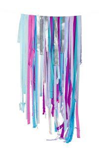 banderole girlande papier crepe licorne anniversaire
