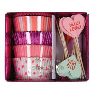 cupcake kit coeur st valentin