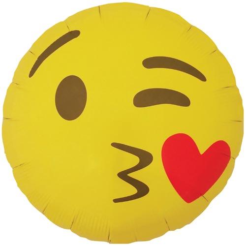 Ballon Emoji Bisou Coeur Pikasworld Décoration Anniversaire Enfant