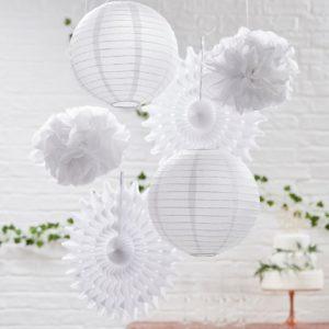 decoration suspendu blanc