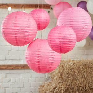 lanterns pink