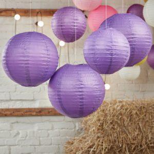 lanterns violet