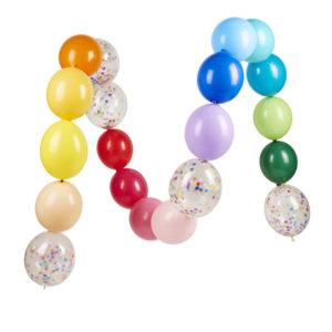guirlande ballon coloré
