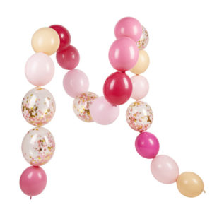 guirlande ballon pink shimmer