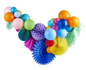 guirlande diy ballon boule alvéolée coloré