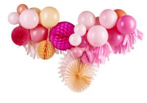 guirlande diy ballon boule alvéolée rose