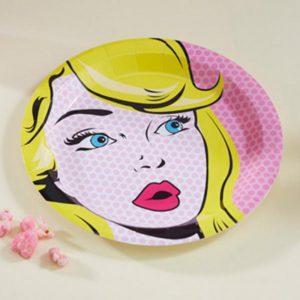 assiette-pop-art-pink-fille-anniversaire-deco