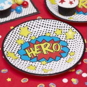 assiettes-super-héro-comic-pop-art