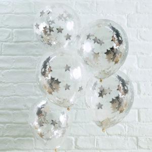 ballons-confettis-etoiles-argent-anniversaire-enfant