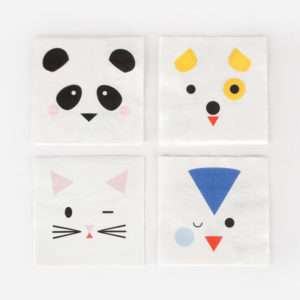 decoration-de-anniversaire-enfant-serviettes-papier-animaux-mignons-my-little-day