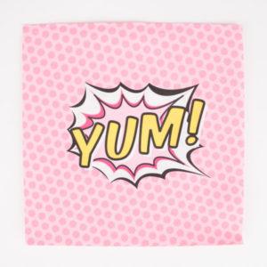 decoration-de-table-anniversaire-enfant-serviettes-en-papier-pop-art-yum-party
