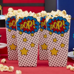 popcorn-boxes-carton-super-héro-comic-pop-art-anniversaire-enfants-candybar