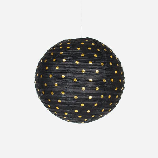 lanterne chinoise noire pois dor s pikasworld. Black Bedroom Furniture Sets. Home Design Ideas