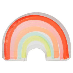assiettes-arc-en-ciel-anniversaire-licorne-soleil