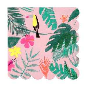serviettes-tropical-toucan-anniversaire-safari-jungle-merimeri