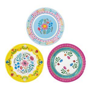 assiettes-boho-fleurs-frida-khalo
