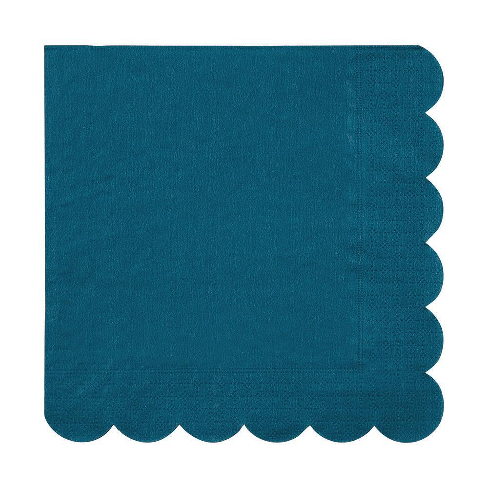 Serviettes Bleu Canard